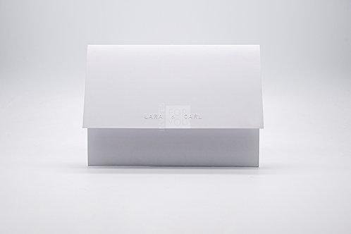 Name Embossed Self Envelope Invitation