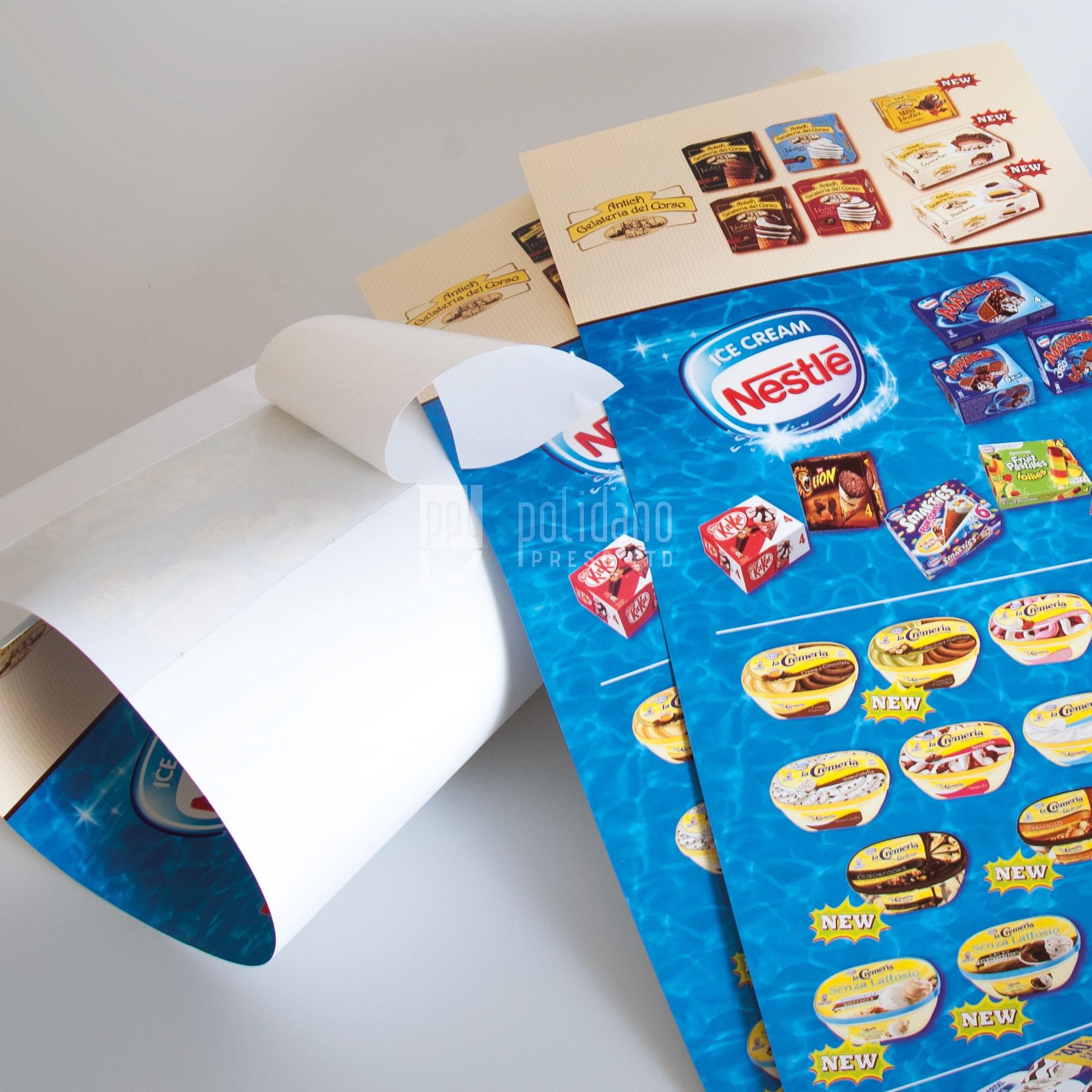 Ice cream promotion stickers