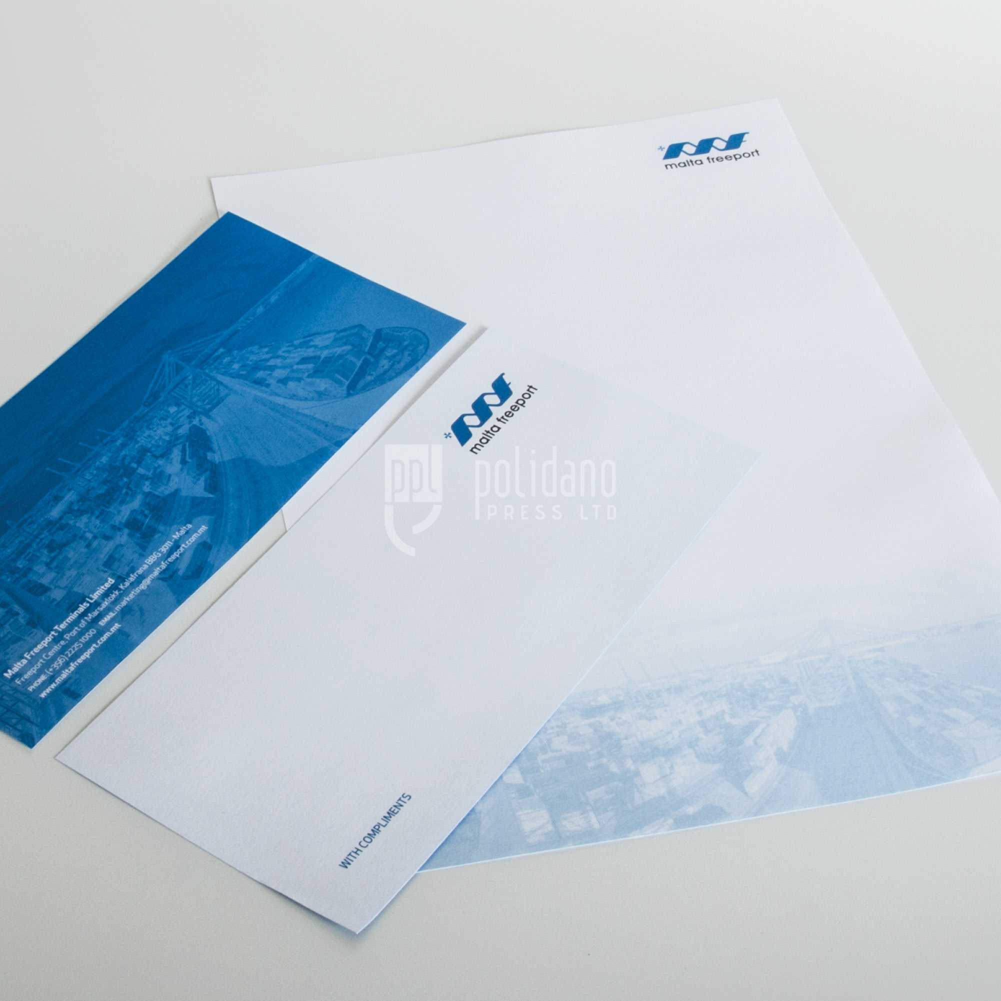 Malta Freeport stationery