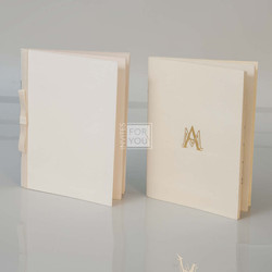 Mass booklets with ribbon and foil