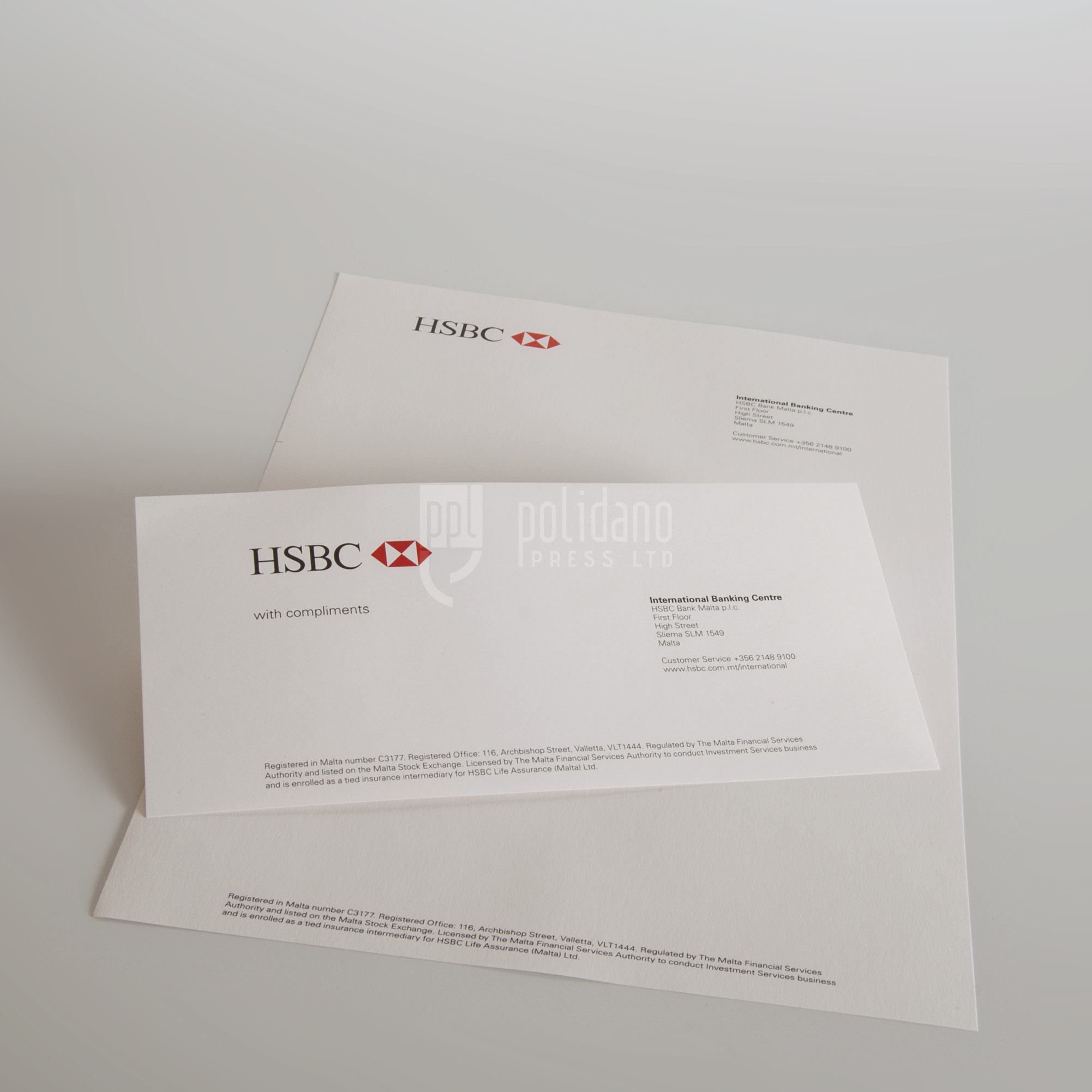 HSBC stationery