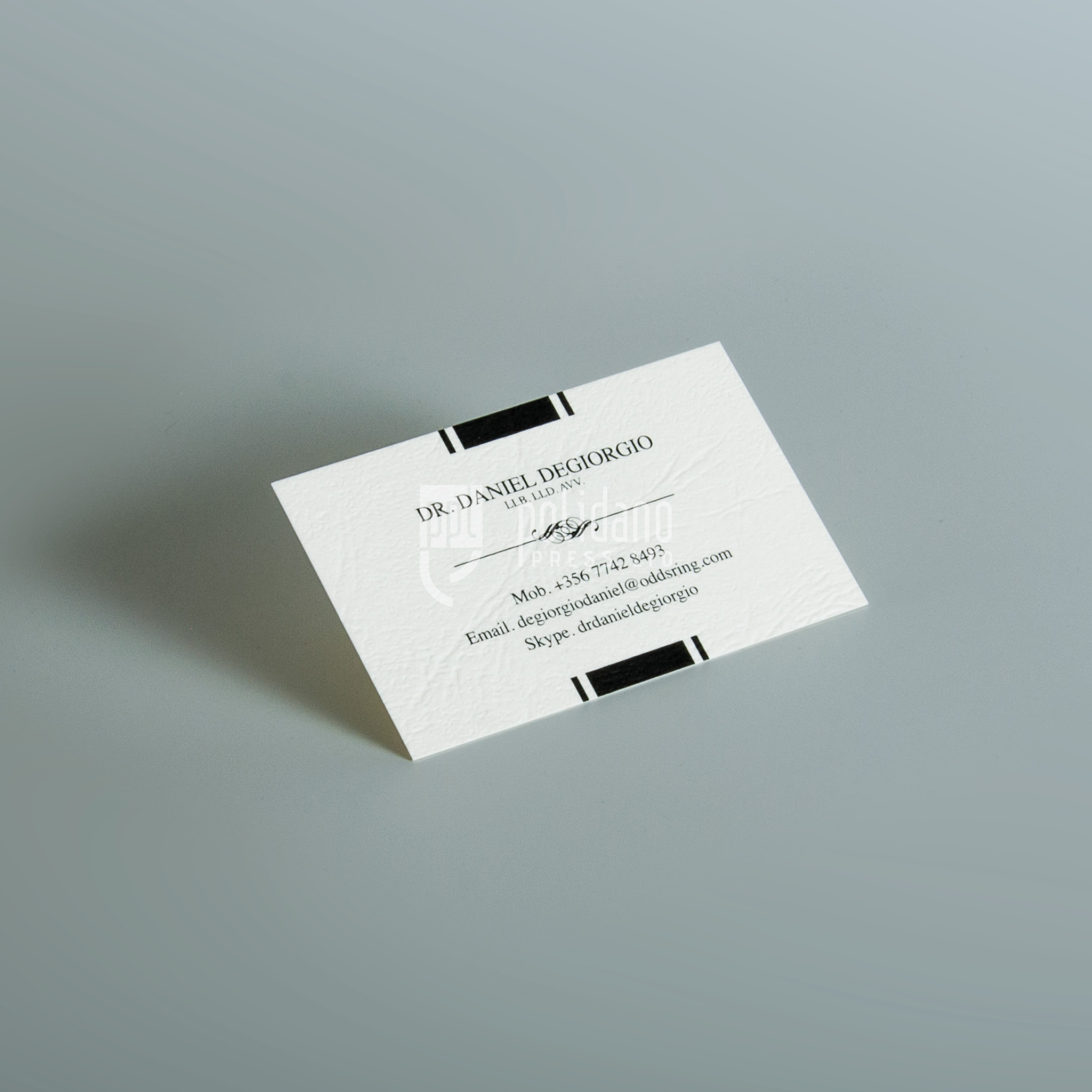Dr Daniel Degiorgio business cards