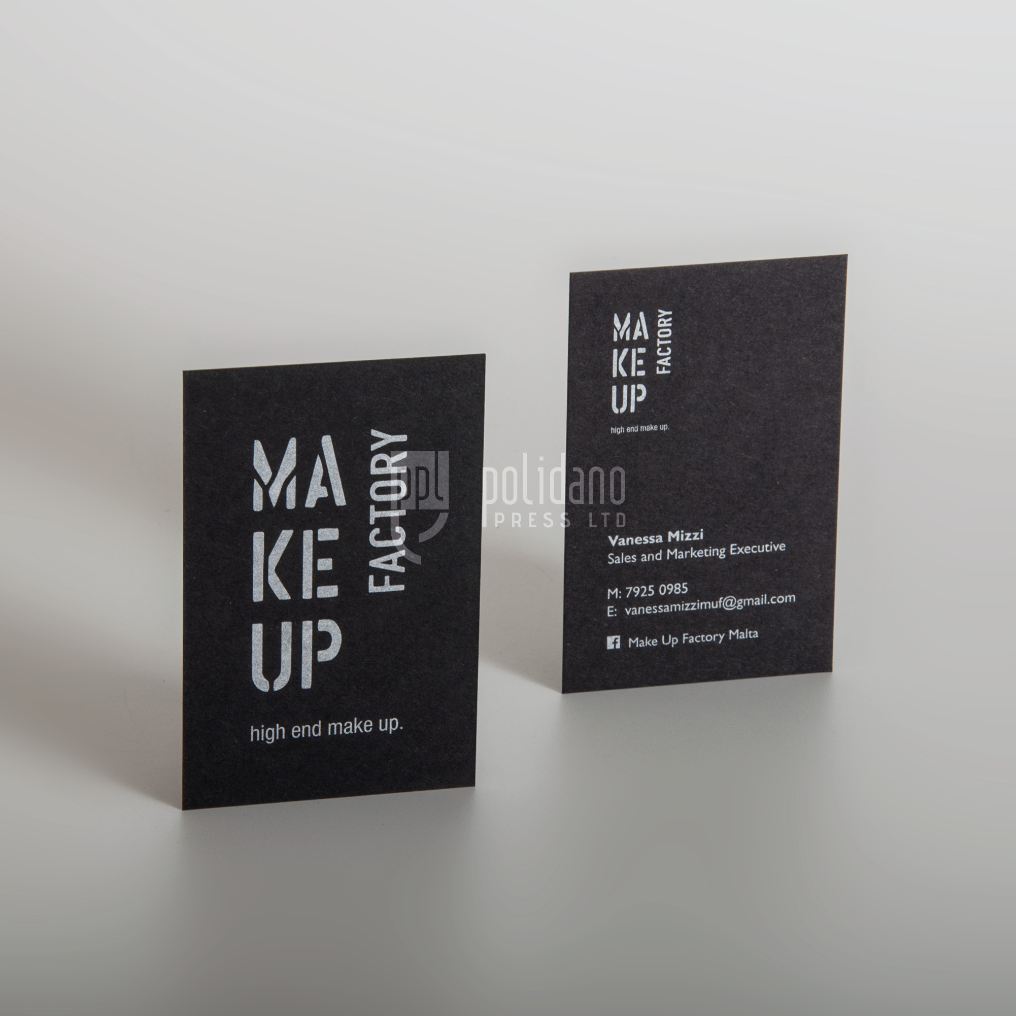 Make Up Factory business cards