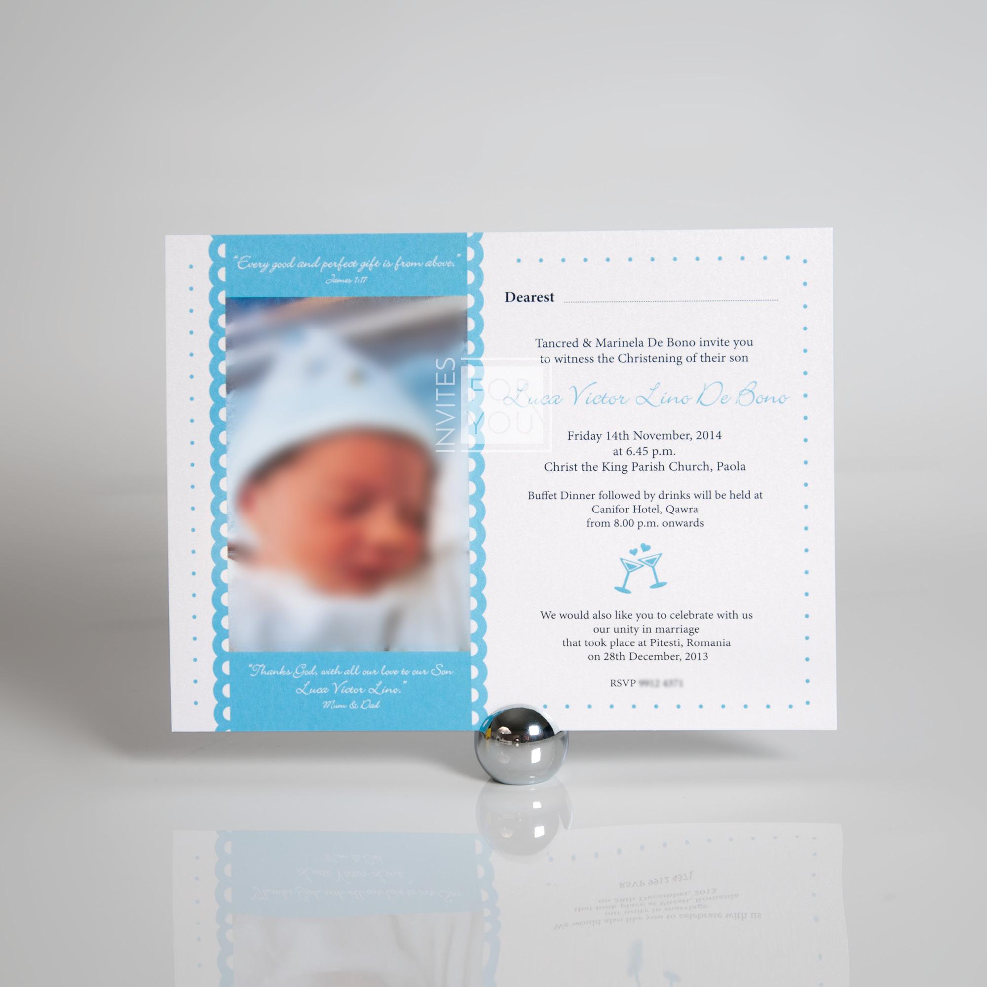 Photo Baptism Invite