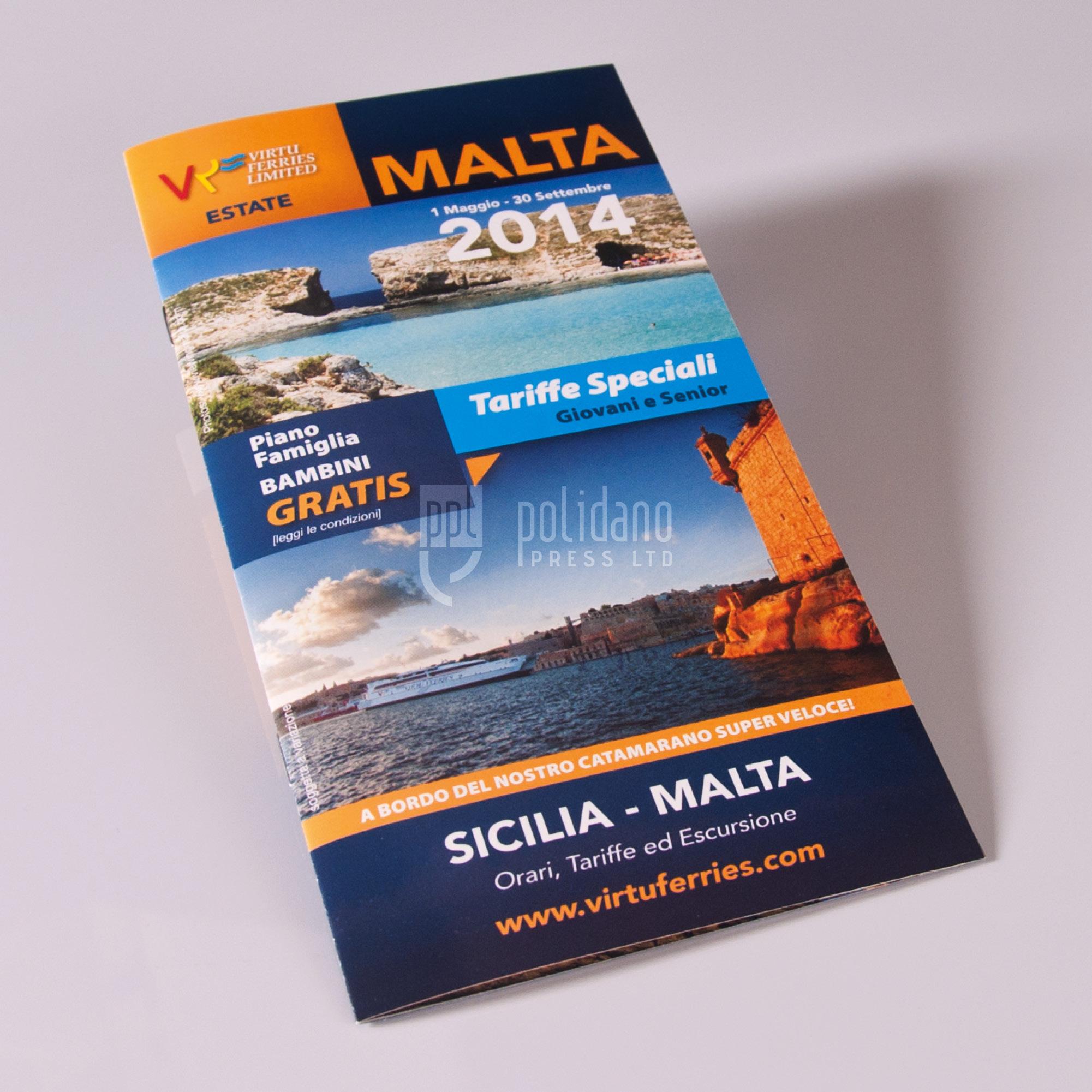 Virtu Ferries timetable booklet