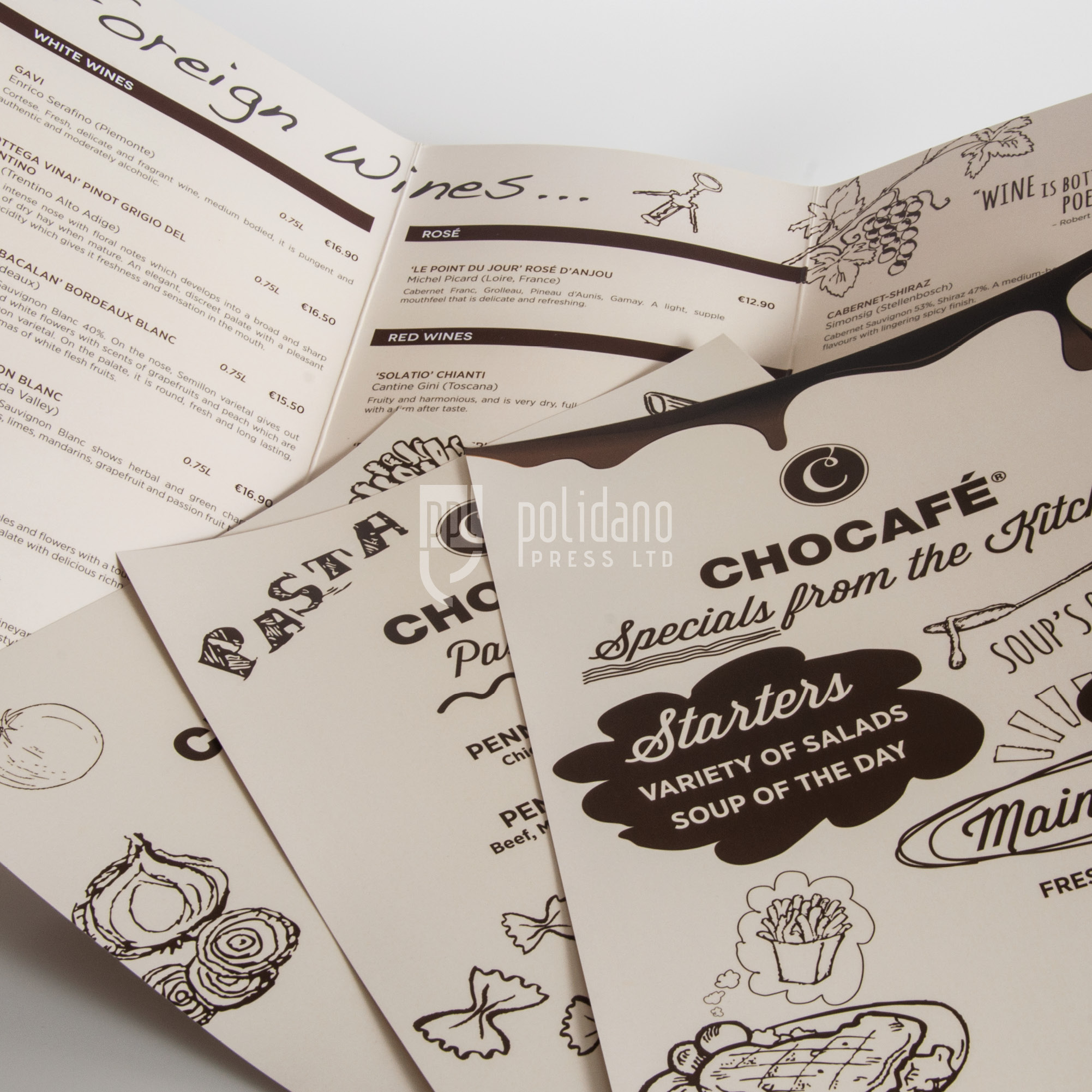 Chocafe menus
