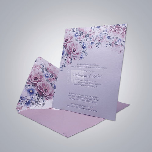 1 Card Invitation with Large Foil Area (Envelope Liner)