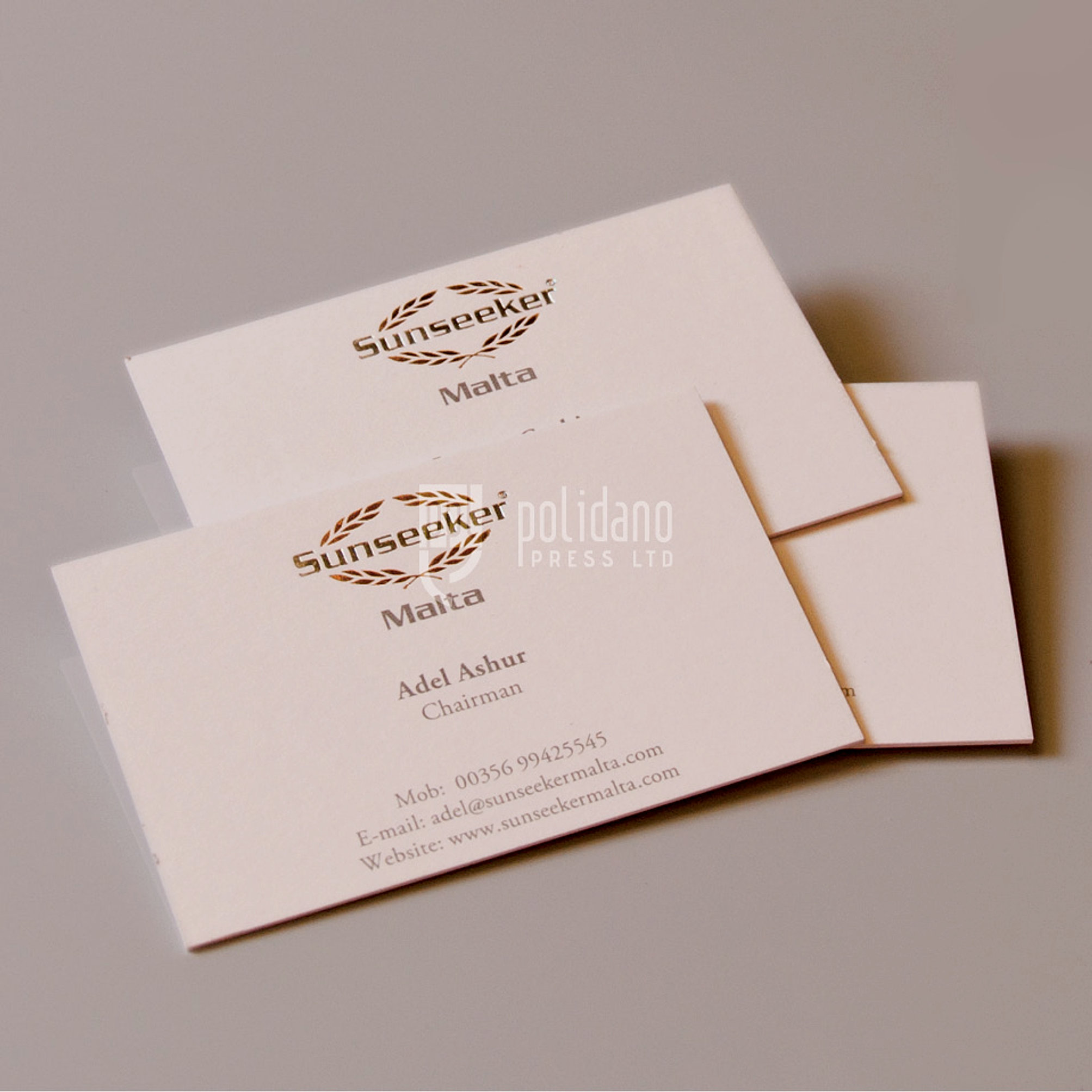 Polidano press ltd high end business cards sunseeker business cards reheart Gallery