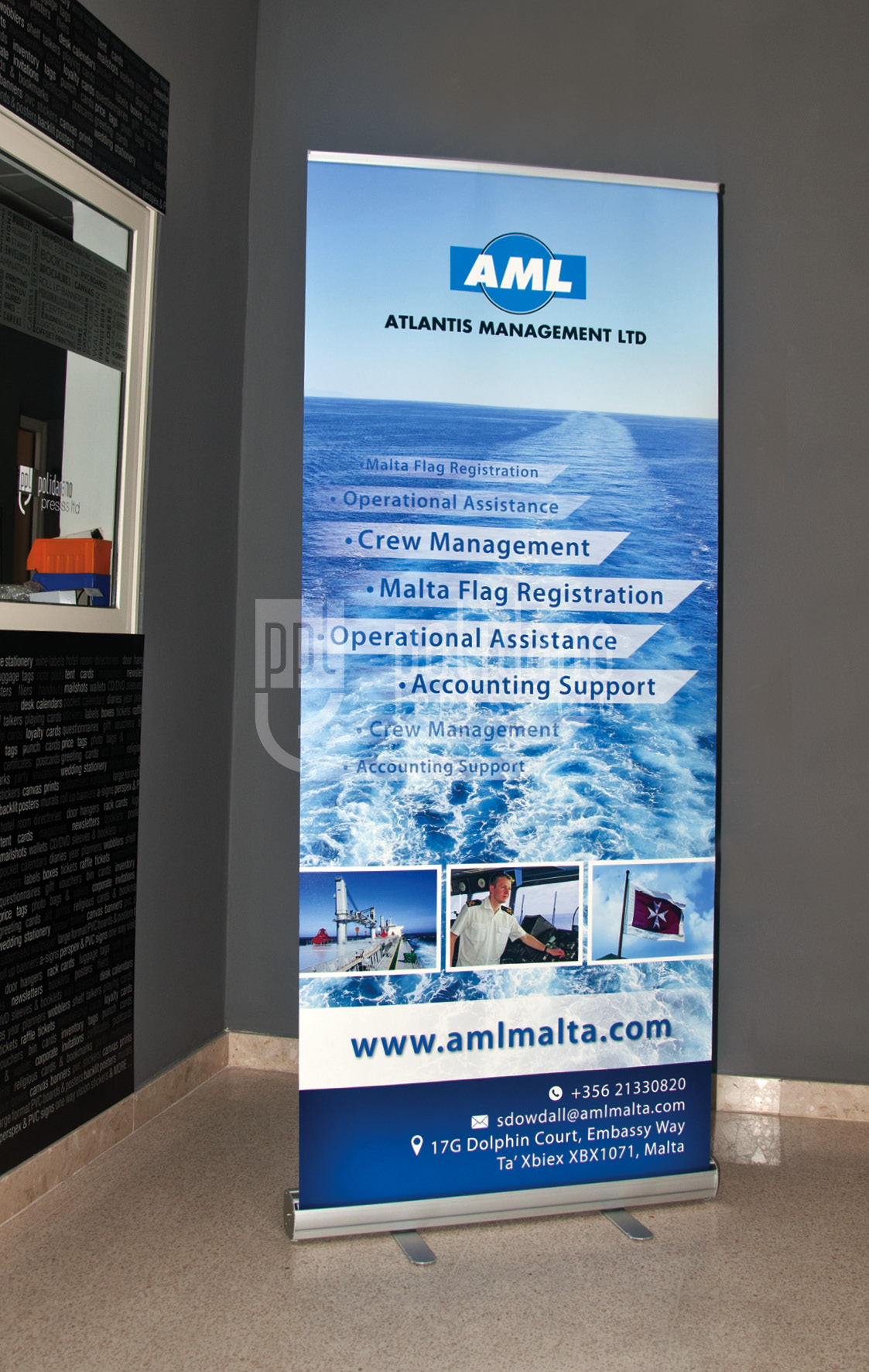 Atlantis Management Roll Up Banner