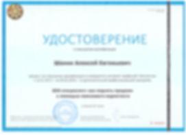 Удостоверение о повышении квалификации SEO