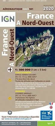 Carte OACI PLASTIFIÉE  Nord-Ouest 1/500000