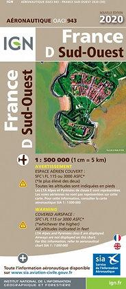 Carte OACI Sud-Ouest 1:500000
