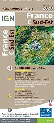 Carte OACI PLASTIFIÉE Sud-Est 1/500000