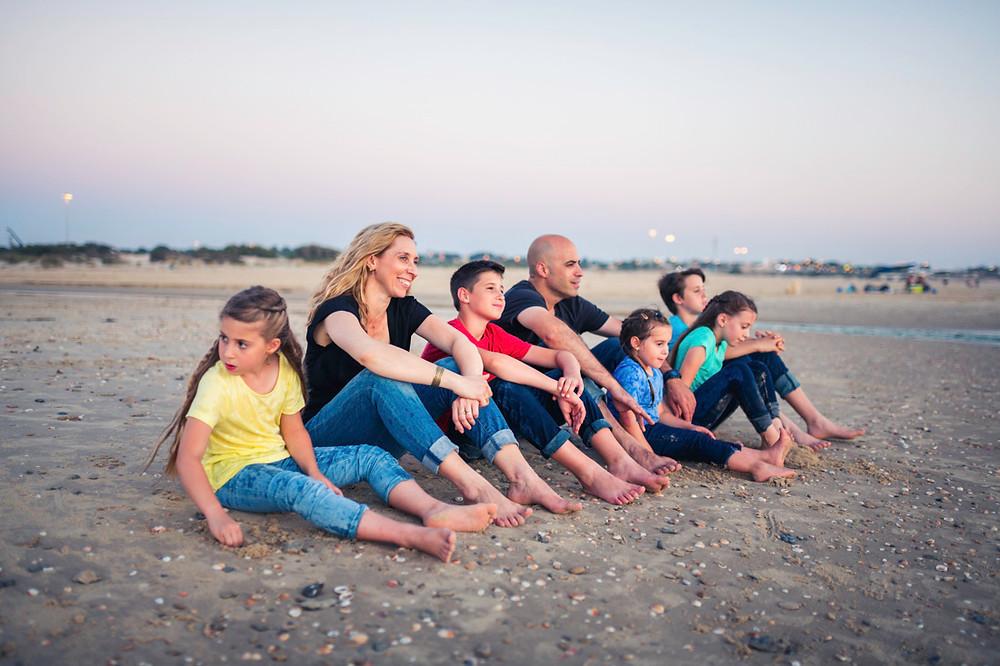 צילומי משפחה בים   צילומי משפחה בטבע