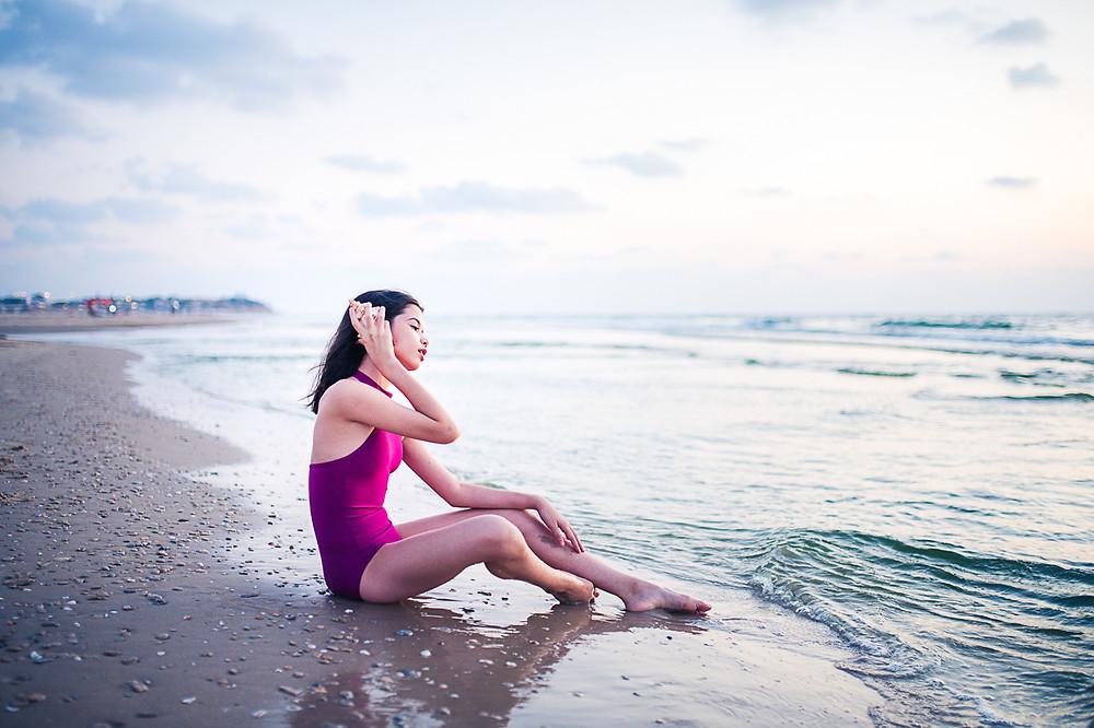 בוק בת מצווה בטבע - צילומים בים