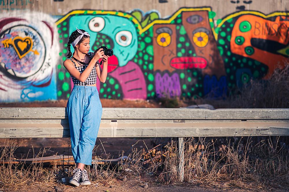 בוק בת מצווה בטבע - צילומים בגראפיטי