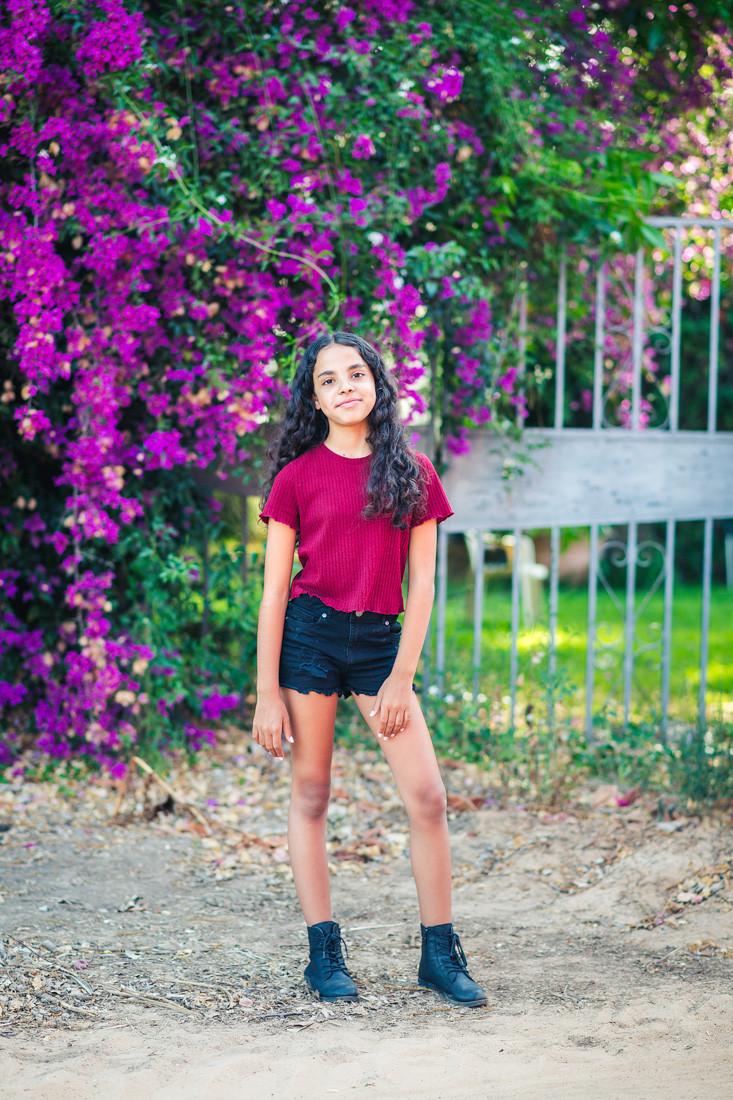 בת מצווה בקורונה   צילומים בטבע   אביבית צפריר צלמת