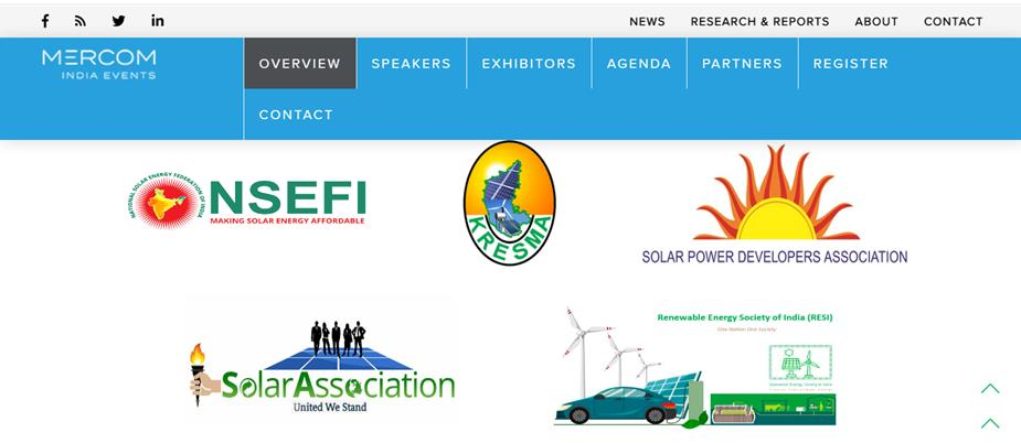 Partner in Solar Event by Mercom India