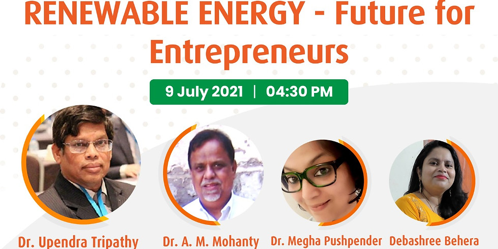 """Webinar on """"Renewable Energy- Future for Entrepreneurs"""""""