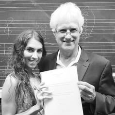 Ian Krouse with his personal assistant and former PhD student, composer Crystal A. Frost.