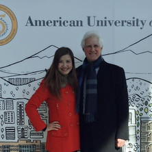Ian Krouse and Jan Chen in Yerevan, Armenia for Ian's lecture at the American University of Armenia, 2015