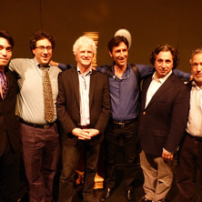 With Edward Ryan, David Lefkowitz, Antonio Lysy, Richard Danielpour, and Peter Golub, 2014 Schoenberg Hall Debussy Trio Residency.