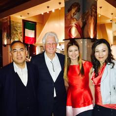 From left to right: Morgan Li, Ian Krouse, Jan Chen, Ginger Hu