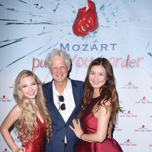 Ian Krouse with Jan Chen and apprentice Mozart at her album release party.