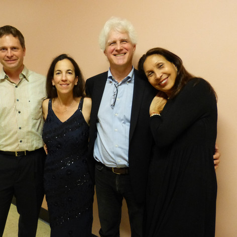 David Walter and Marsha Dickstein of the Debussy Trio, with mezzo-soprano Suzann Guzman after performing Ian Krouse's Two Sephardic Songs (2016) at UCLA