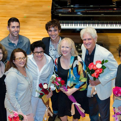 Ian Krouse with Russell Steinberg, Jeffrey Parola, Laura Carpman, Nora Kroll-Rosenbaum, and Anne Le Baron after his 2014 Song Fest Concert.