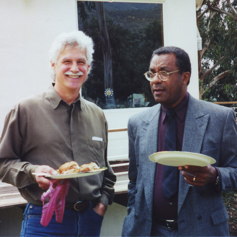 With Maestro Jon Robertson in 2002 at Tom Harmon's retirement party.