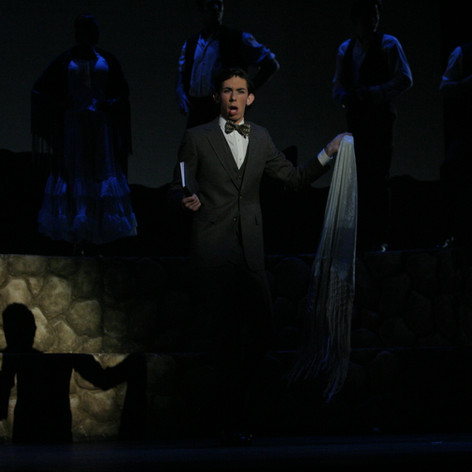 Evan Hughes, as Lorca in Lorca, Child of the Moon, 2005.
