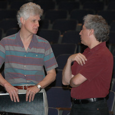 With Freud Theater Production Supervisor Jeff Wachtel during rehearsals for 'Lorca, Child of the Moon,' 2005