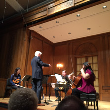 Ian conducting Music In Four Sharps at The Curtis Institute in 2016.