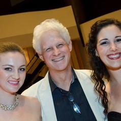 Elena Fomicheva (left) Tiffany DuMouchelle (right). After a performance at 'Song Fest' of 'Cuantas veces de amor' at the Colburn School, June 22, 2014