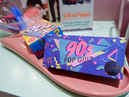 90's Pop Quiz Card Game