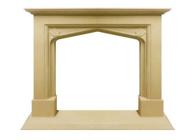 Hand carved Emborough fireplace