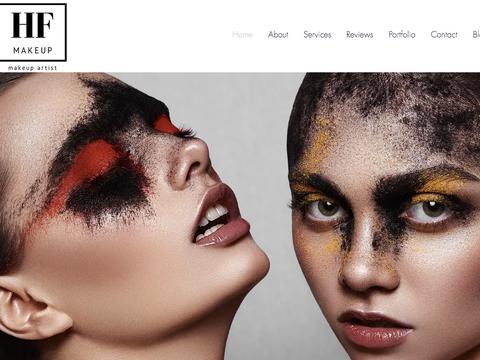 H F Makeup Website