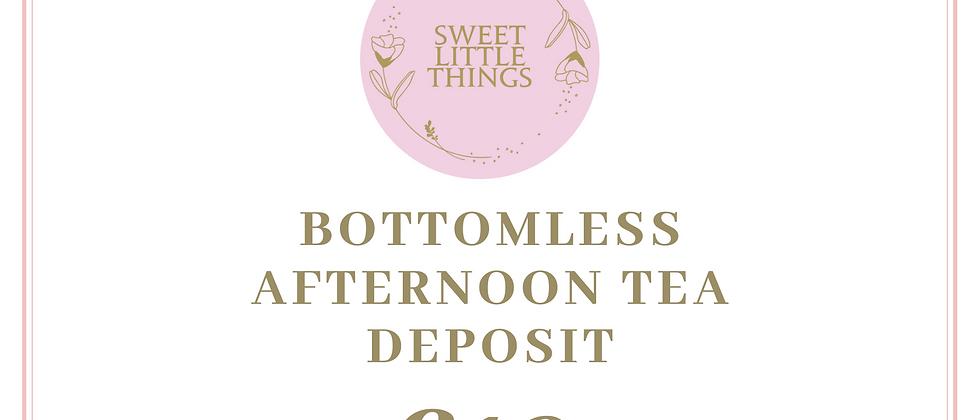 Bottomless Afternoon Tea Deposit £10pp