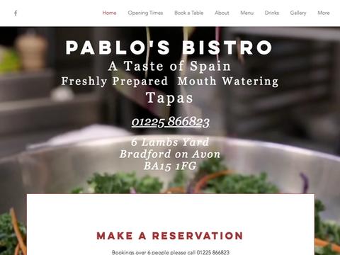 Pablos Tapas Website