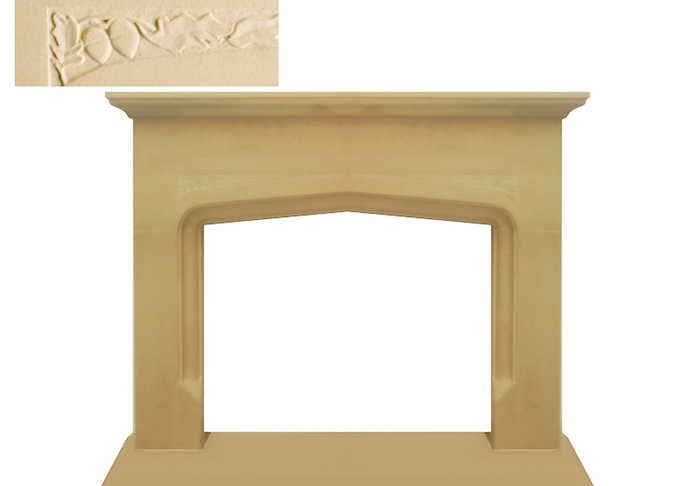 Hand carved Litton fireplace