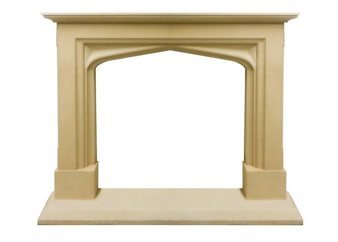 Hand carved Nunney fireplace