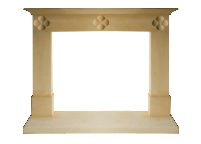 Hand carved Holcombe fireplace