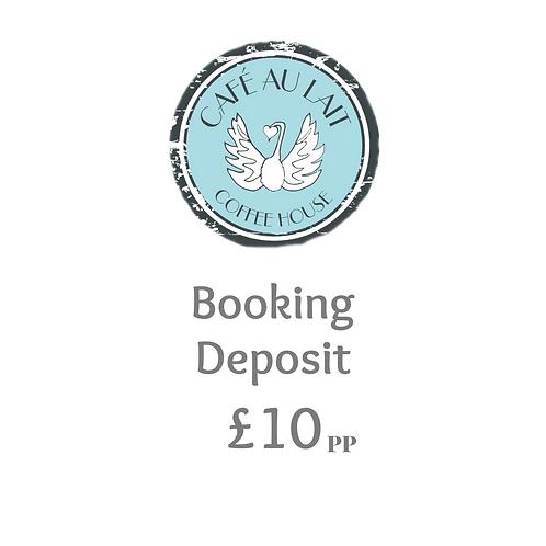 Booking Deposit £10pp