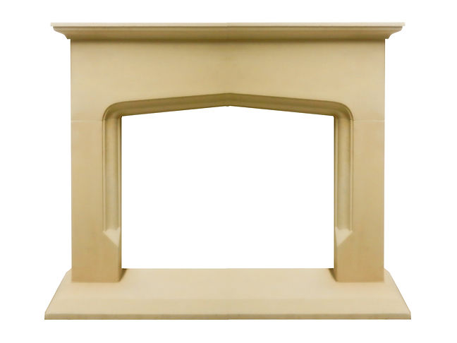 Hand carved Greyfield fireplace