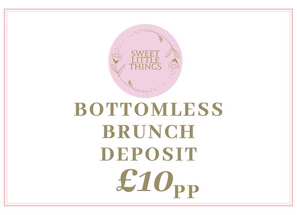 Bottomless Brunch Deposit £10pp