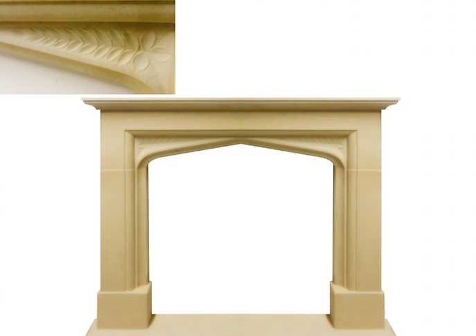 Hand carved Hinton fireplace