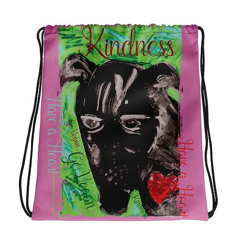 Kindness / Pink / Drawstring Bag