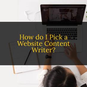 How Do I Pick a Website Content Writer?