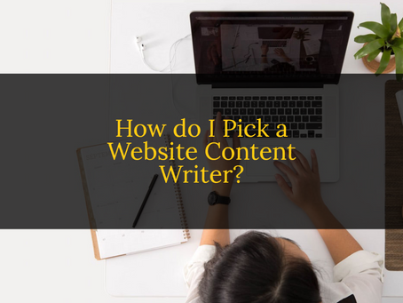 How Do I Pick a Website Content Writer?